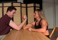 mixed armwrestling with Jessie Strand