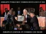 WORLD TOURISM INSTITUTION - EUROPEAN COUNCIL ON TOURISM AND TRADE CROWNS ZIMBABWE AS 2014 WORLD BEST TOURISM DESTINATION