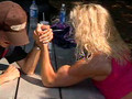mixed armwrestling with Lisa Janusz