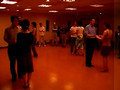 4 pairs of salsa dancers in practica