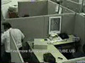 Guy gets angry in the office