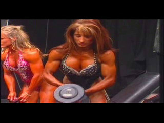 Christine Pomponio-Pate pumping backstage