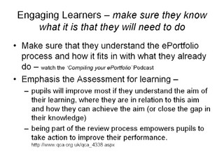 Engaging young learners in the ePortfolio process