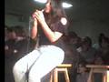 Sarah singing on karaoke day