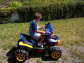 Quadin' in the backyard.