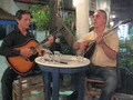 Yannis Loulourgas playing in taverna Poseidon