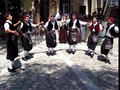 Folk dances at Platia Irini in Pythagorio