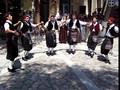 Folk dances at Platia Irini in Pythagorio