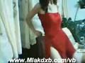 arab girl dance in red