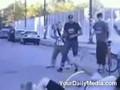 Biker Runs Over Fat Kid!