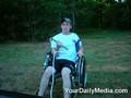 Wheelchair Pull Crash!