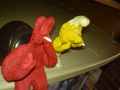 drugs are bad - Yellow smurfs and red thing