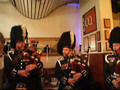 Pipes and Drums playing through a Crowded Bar