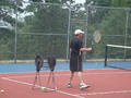 Yossi playing tenis in NY