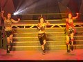Saki doin some crazy dance move!