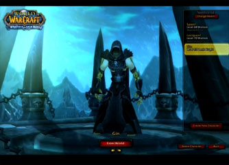 WOTLK - Death Knight - 1. character select and intro