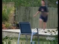 Kid Wipes Out Jumping Over Chair