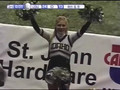 Idaho cheerleaders cheering
