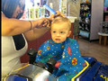 Cole's first haircut