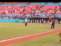Jean sings National Anthem at Florida Marlins game