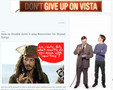 Ironic Give Up Vista Ad