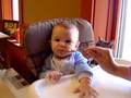 First Snack in the Highchair