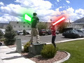 LightSaber Fight 1 - Superman Vs Havok Vs Zeratul