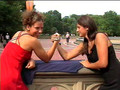 Armwrestling woman