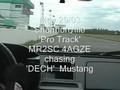MR2 SC chasing DECH Mustang