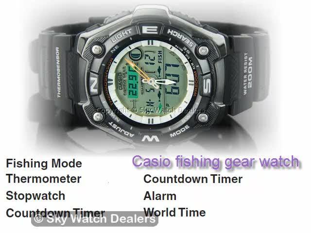 Casio fishing gear watch AQW-101 AQW101