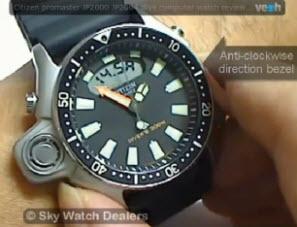 Citizen promaster JP2000 JP2004 dive computer watch reviews