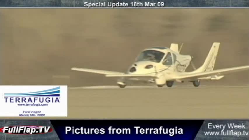 First flight of Terrafugia Transition Flying car - Update