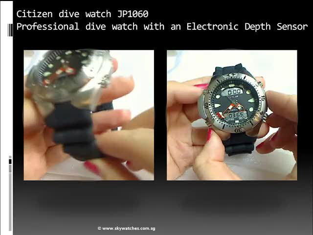 Review of Citizen promaster JP1060 scuba dive watch