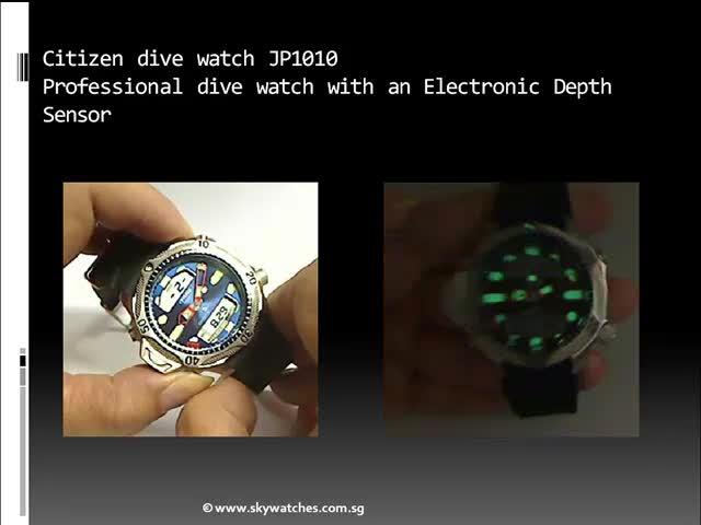Citizen aqualand JP1010 scuba dive watch reviews
