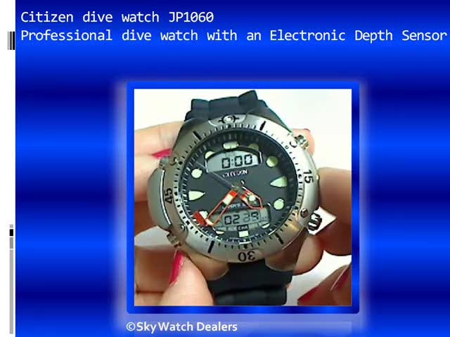 Citizen promaster JP1060 professional dive computer watch