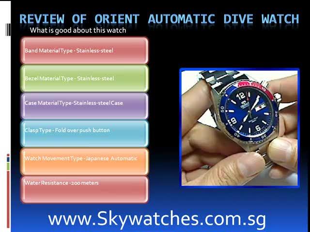 Orient automatic diver watch blue mako