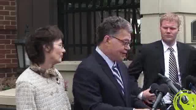 Senator Elect Al Franken Accepts Coleman Concession