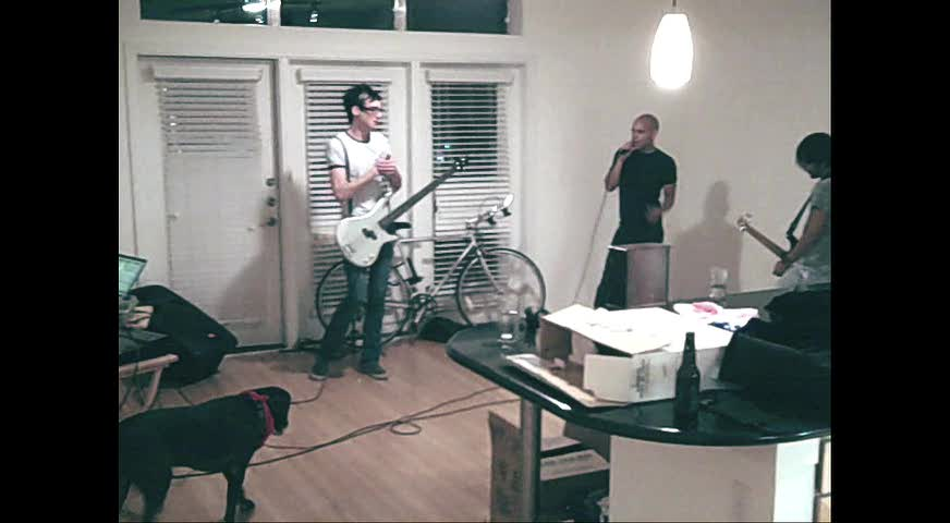Band practice at the new pad