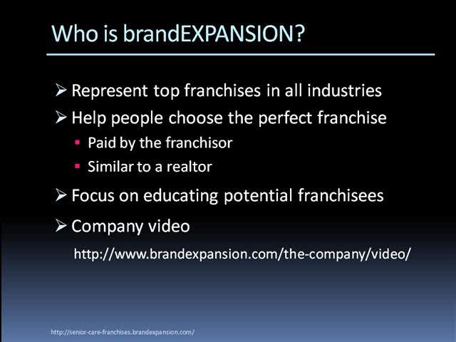 Senior Care Franchise Business Opportunities