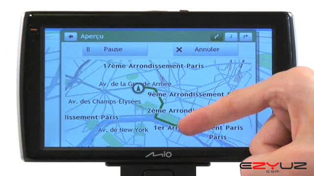 GPS Mio Moov v735 TV - Mode d'emploi video GPS Mio