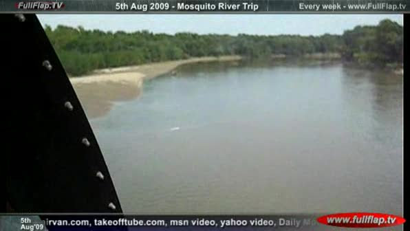 Helicopter at low level over river - FullFlap.TV  - 06Aug09