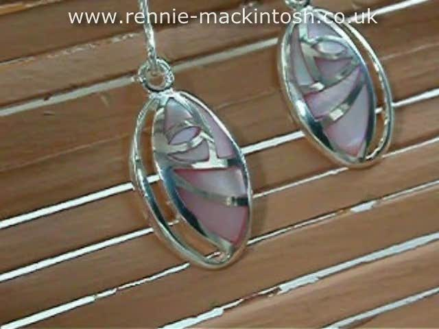 Charles Rennie Mackintosh Earrings DSG174m1