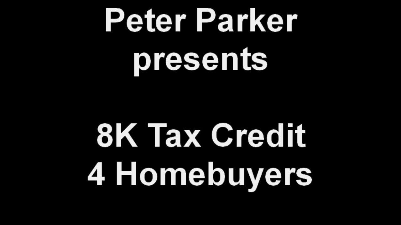 8,000 Tax Credit for Homebuyers