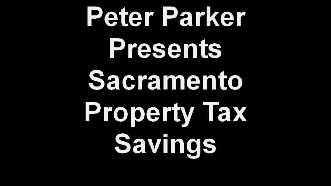 Peter Parker Presents 2009 Property Tax Savings, Sacramento