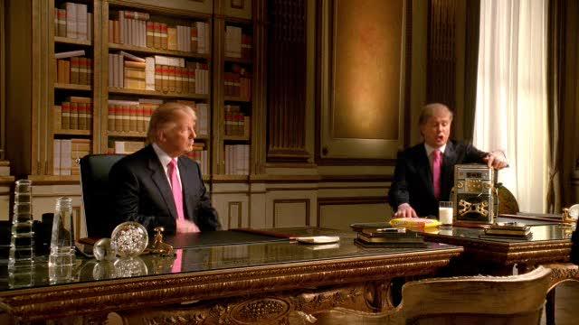 Oreo DSRL:  Donald Trump sings Donald Trump the theme song.