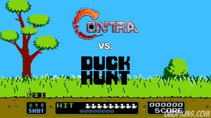 Contra vs. Duck Hunt