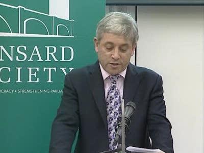 UK SPEAKER ON PARLIAMENTARY REFORM
