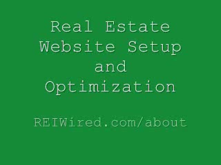 Real Estate Website Setup and Optimization   REI Wired