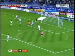 Tenerife Vs Barcelona 0-5 all Goals (10-1-2010)