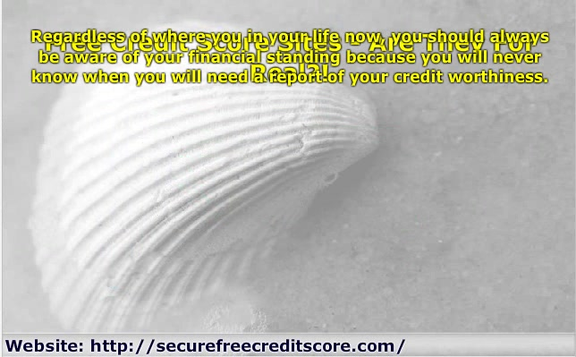 Free Credit Score Sites - Are They For Real?